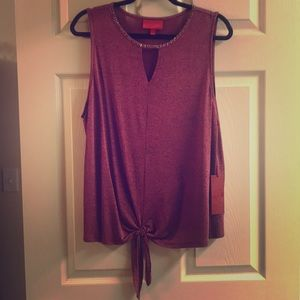 Sleeveless Black Cherry Blouse